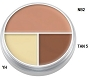 Kryolan Ultra Tri Color D Circle