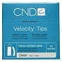 CND Velocity Tips Clear 1 50/Pack