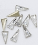 Nail Gem Triangle Silver 10/Pack