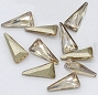Nail Gem Triangle Champagne 10/Pack