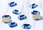 Gem Stone Rectangle Blue 10/Pack
