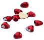 Gem Stone Heart Red 10/Pack