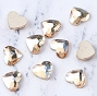 Gem Stone Heart Champagne 10/Pack