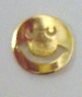 Nail Charm Gold Smiley Face