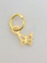 Nail Ring Gold Butterfly
