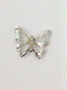 Nail Charm Silver Butterfly Big