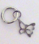 Nail Ring Silver Butterfly