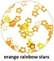 Art Club Rainbow Stars Orange