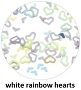 Art Club Rainbow Hearts White