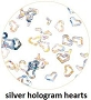 Art Club Hologram Hearts Silver