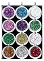 Cala Glitters Mini Hexagon 12/Pack