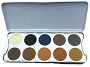 Kryolan Eye Shadow 10 Shading Palette