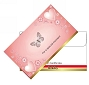 Envelope Pink Butterfly 50/pack